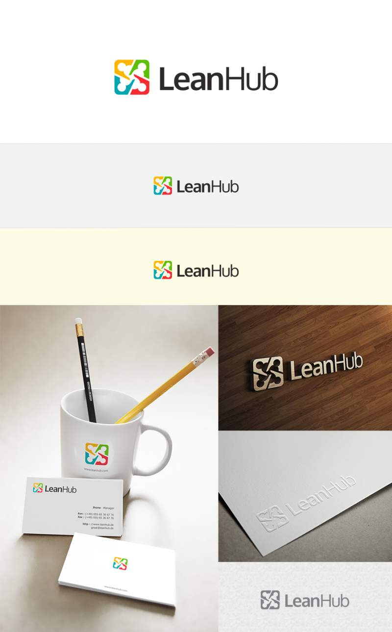 LeanHub's logo was developed using 99designs.