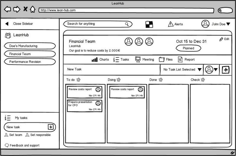 LeanHub's mockup example that was sent to the design team.